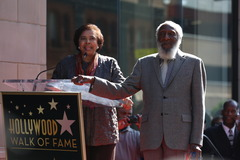Hollywood Star Induction Speaker Dr. E Faye Williams and Dick Gregory