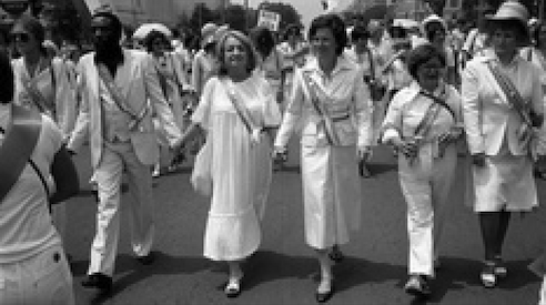 Dick Gregory walking for women's rights 60's